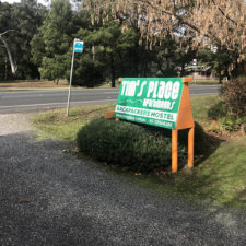 Tim's Place sign at front